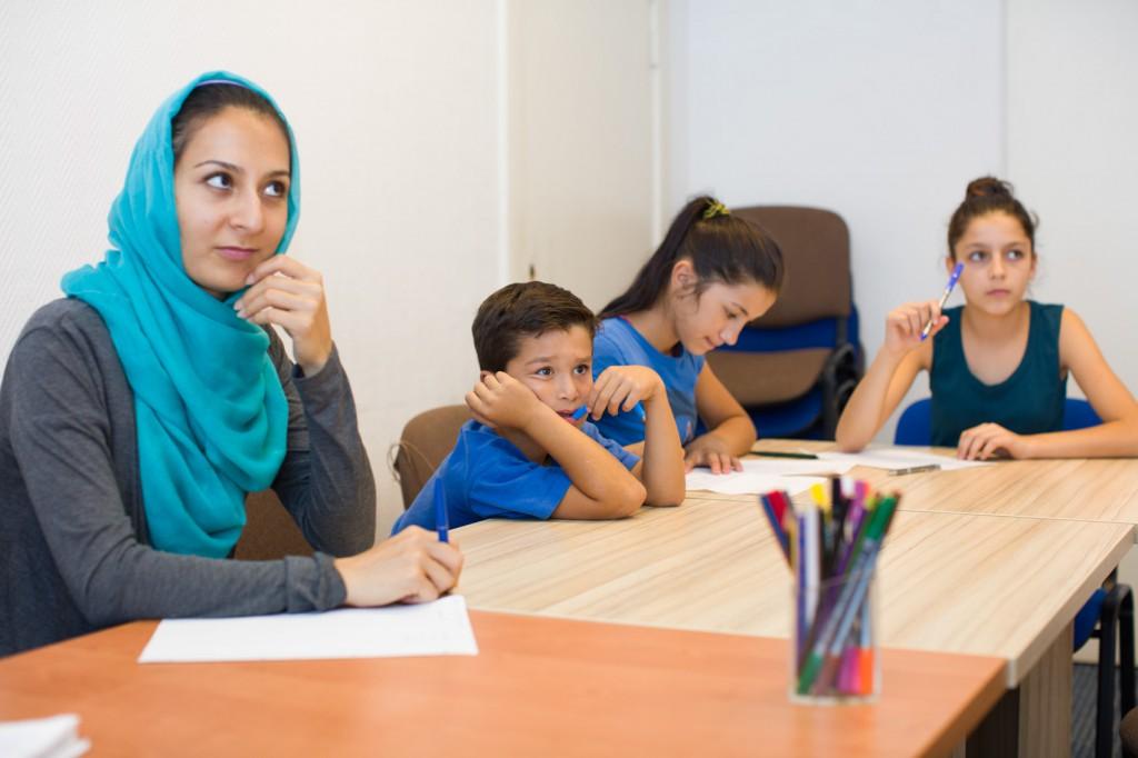 Das Sprachniveau der Schüler ist sehr unterschiedlich aber alle kommen gerne zum Unterricht. (c) Kathrin Harms 2015